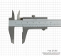 Preview: Small vernier caliper, 100 x 0.05 mm, INOX, monoblock, set screw