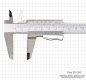 "Preview: Vernier caliper, INOX, auto lock, 200 x 0.02 mm / 8"" x 1/1000"""
