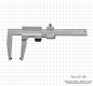 Preview: Prec. vernier caliper for brake-discs, 0 - 100 x 120 mm