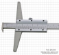 Preview: Depth vernier caliper with hook, 500 x 100 mm