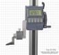 Preview: Digital height gauge, 300 mm, ABS system, with driving wheel
