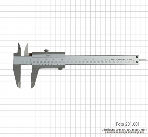 Small vernier calipers, 100 mm