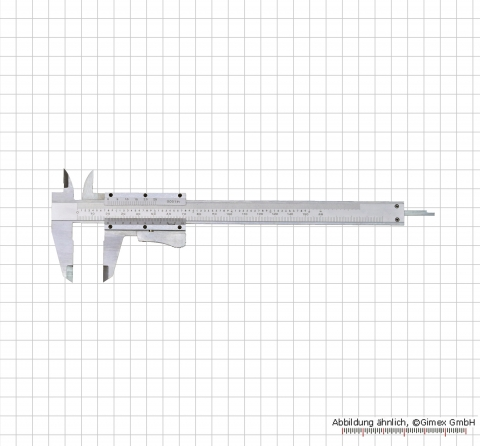 "Vernier caliper, special steel, autolock, 150 x 0,02 mm / 6"" x 1/1000"""