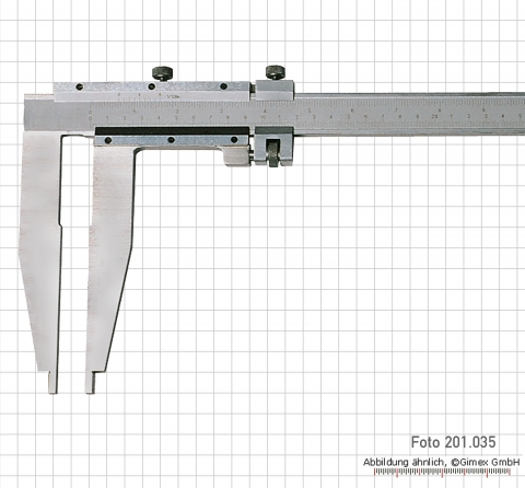 Vernier calipers, special steel, without points, 500 x 90 x 0.05 mm