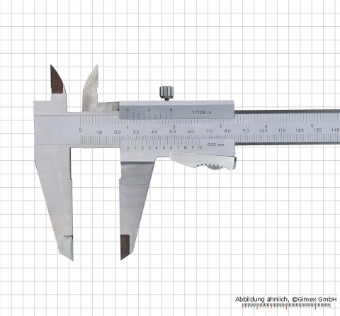 Vernier calipers with auto lock, 300x0,05 mm