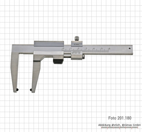 Prec. vernier caliper for brake-discs, 0 - 100 x 120 mm