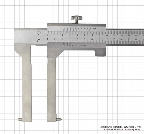 Vernier caliper for brake-drums, 600 x 200 mm