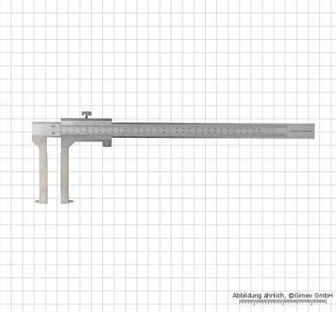 Prec. vernier calipers for brake-drums, 600 x 200 mm