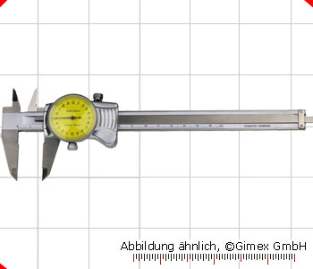 Dial vernier calipers, TOP, 200 x 0,01 mm