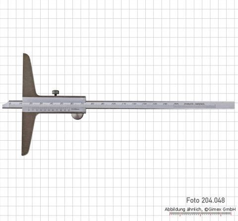 Prec. depth vernier calipers  200 x 100 mm