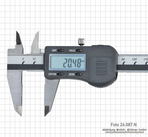 Digital caliper, with roller, 200 mm