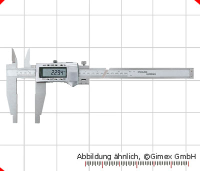 Digital control caliper with cross points, 1000 x 150 mm