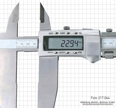 Digital control caliper with point, 1000 x 150 mm