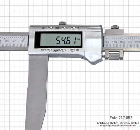 Digital control caliper, 500 x 250 mm