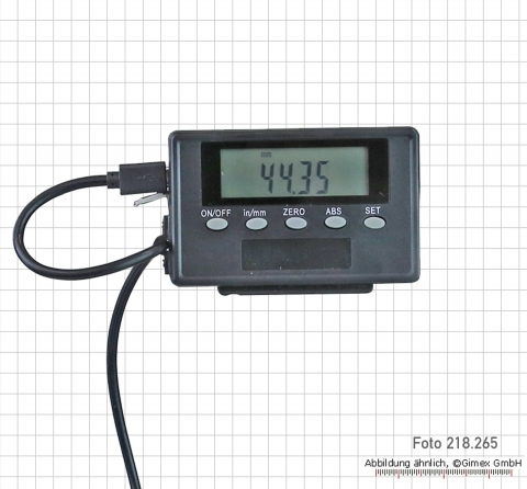 Digital scale Aluminum 200 mm with ext. display