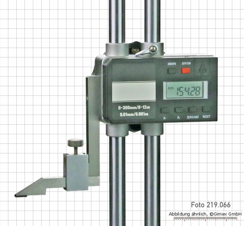 Digital height gauges with double column, 600 mm