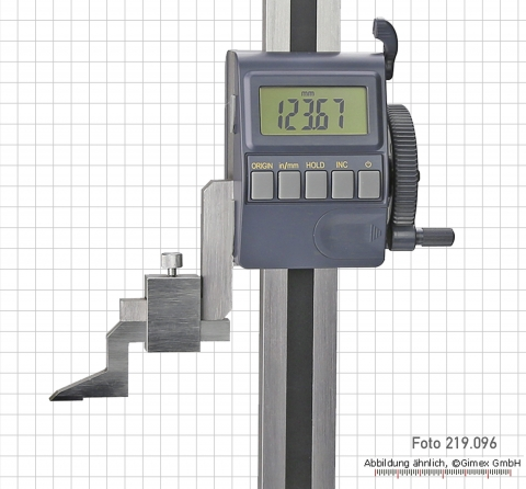 Digital height gauge, 300 mm, ABS system, with driving wheel