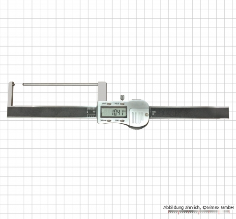 Digital brake-disc calper with long measuring rod