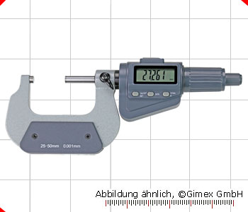 Digital micrometer with friction ratchet, 100 - 125 mm
