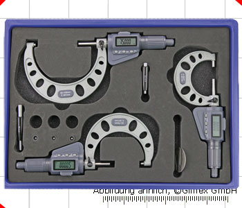 Digital micrometer with friction ratchet, 0 - 100 mm