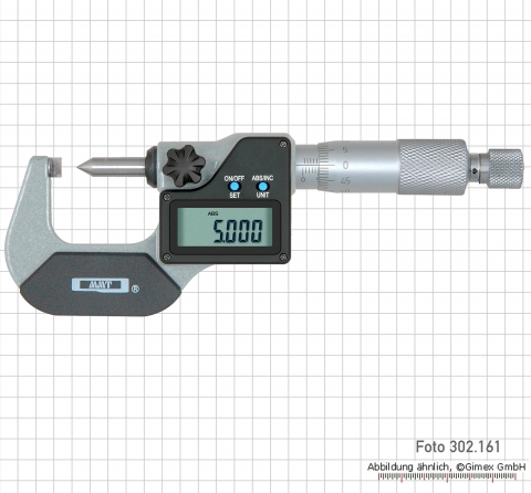 Dig. point micrometers, IP 65,  0 - 25 mm