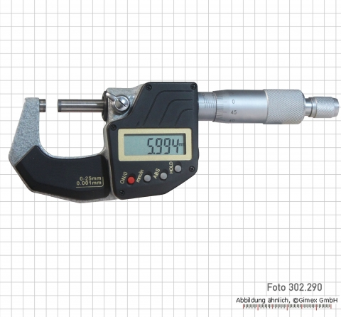 Digital Micrometer, DIN 863,  0-25 mm