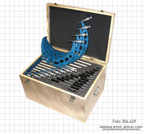 Micrometer sets, round frame, 0 - 300 mm