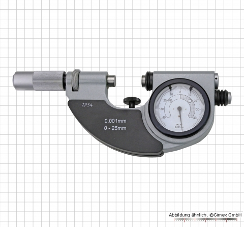 Indicating snap Micrometer, 0 - 25 mm