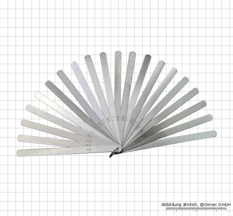 Precision feeler gauge on a ring, 0.05 - 1.0 mm, 13 pcs., 1000 mm Length