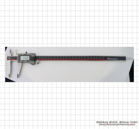 S589: Digital caliper, with roller, 300 mm