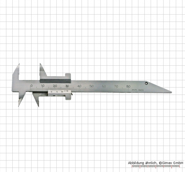small vernier caliper for dental technician 80 x 0.1 mm