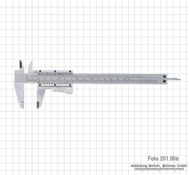 Vernier calipers, special steel, 150 mm, auto