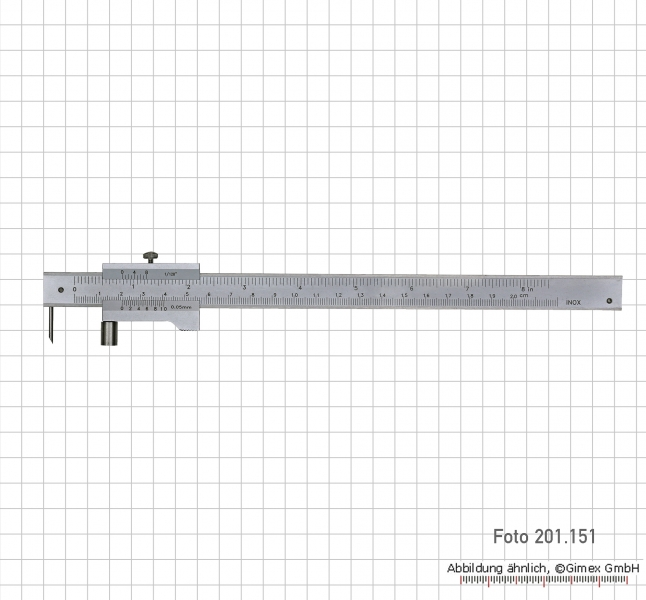 Marking vernier caliper with roll, 200 mm