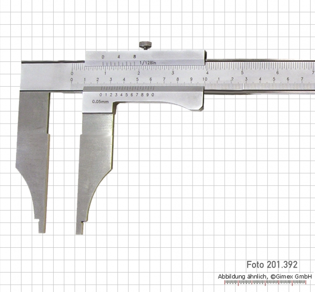 Control caliper without points, 300 x 100 x 0.05 mm