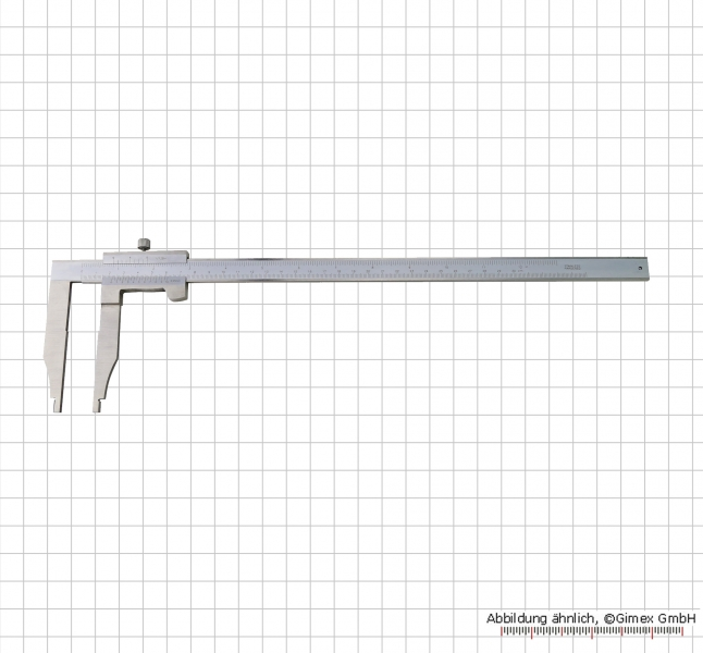 Control caliper, without point, 300 x 100 x 0,05 mm