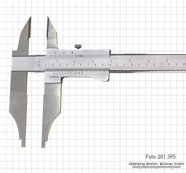 Control caliper with points, 300 x 100 x 0.05 mm