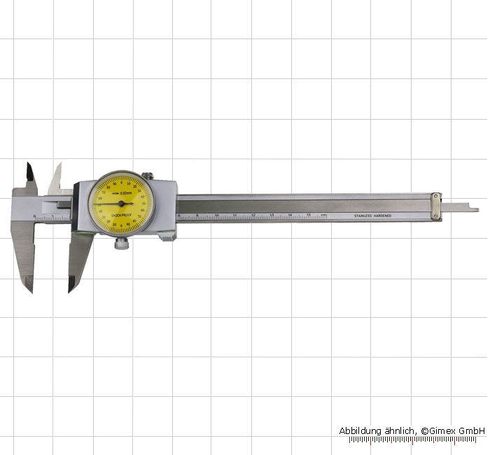 "Dial vernier calipers, ""TOP"", 150 x 0.02 mm"