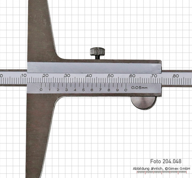 Depth vernier caliper  200 x 100 mm, 0.05 mm