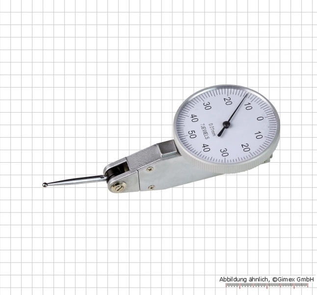 Universal test indicator with long probe, 1.0 x 0.01 mm, L = 23 mm, Ø 40 mm