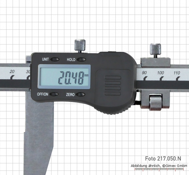 Digital control caliper 200 x 75 mm without point,