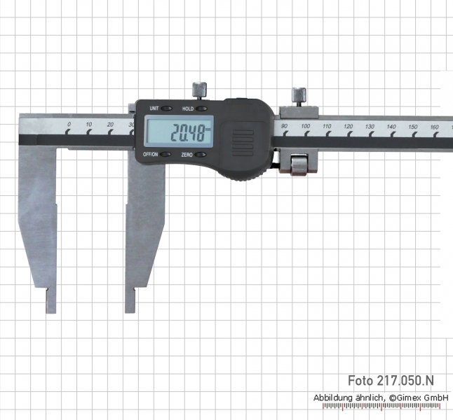 Digital control caliper 200 x 75 mm without point, 3V
