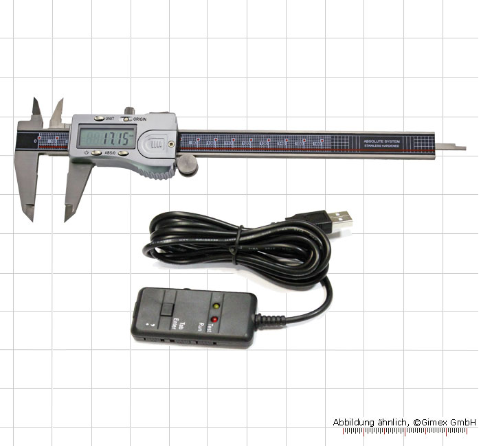 Digital ABS caliper + Interface, 200 mm