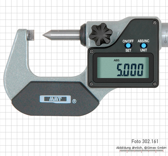 Digital point micrometers, IP 65,  0 - 25 mm