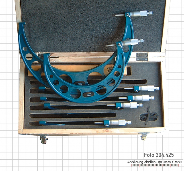 Micrometer sets, round frame, 150 - 300 mm