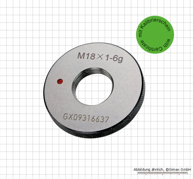 Thread ring gauge NOGO with certificate,  M 3 x 0.5