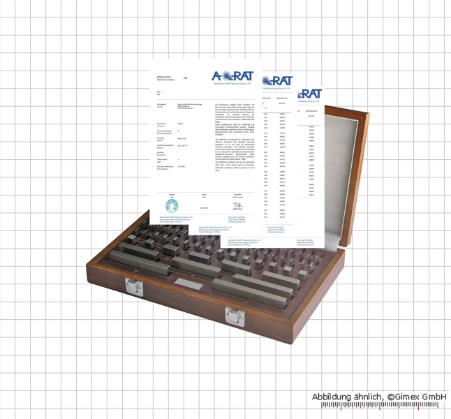 Gauge block set made of stell, degree 1,  32 psc.